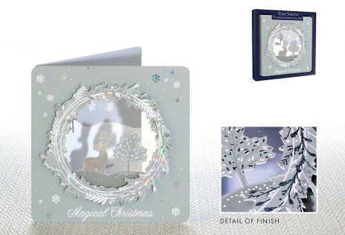 5 Luxury Handcrafted Cards Magical Christmas